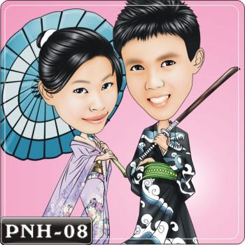 Q版人像繪圖情侶Q版繪圖情侶Q版繪圖PNH-08